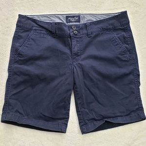 American Eagle Outfitters navy blue bermuda shorts